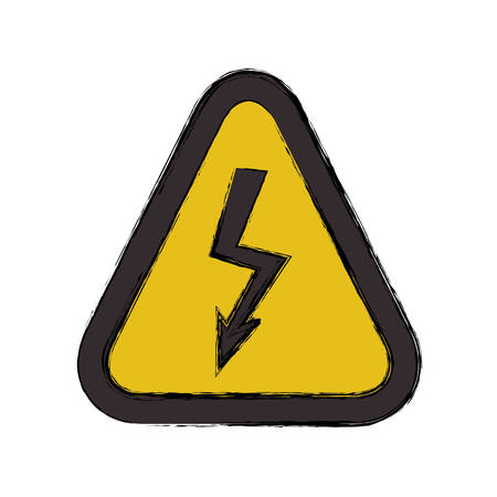 dangerous construction: High voltage sign icon vector illustration graphic design