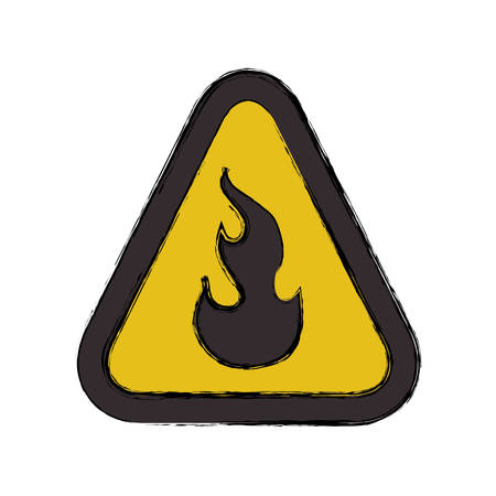 Flammable advert sign icon vector illustration graphic design