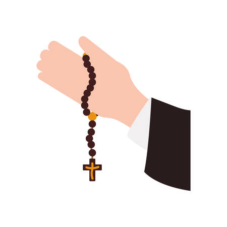 Rosary catholic faith icon vector illustration graphic design Stok Fotoğraf - 75719188