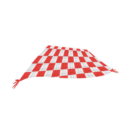 country kitchen: tablecloth blanket picnic image vector illustration eps 10