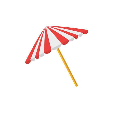 umbrella picnic equipment protection vector illustration eps 10