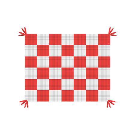 tablecloth blanket picnic image vector illustration eps 10
