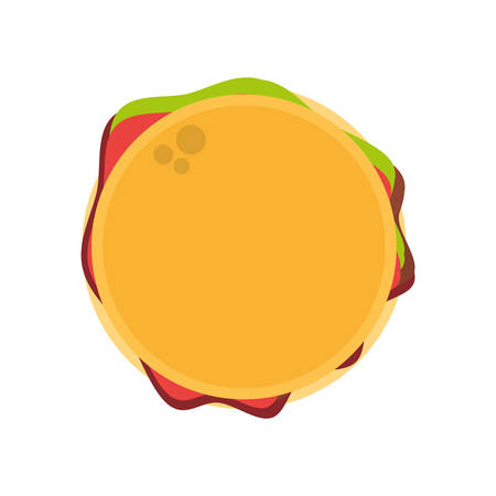 hamburger fast food image vector illustration eps 10