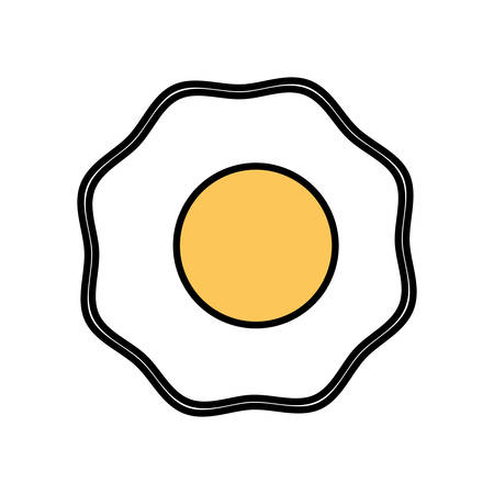cooked meat: fried egg breakfast food vector illustration eps 10 Illustration