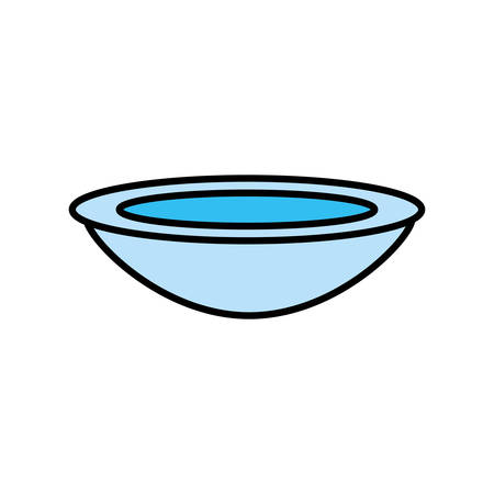 bowl dish kitchen cook vector illustration eps 10