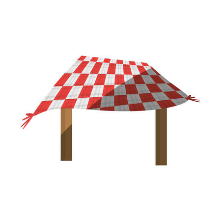 table picnic blanket shadow vector illustration eps 10
