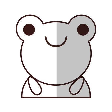 kawaii frog animal icon over white background. vector illustration