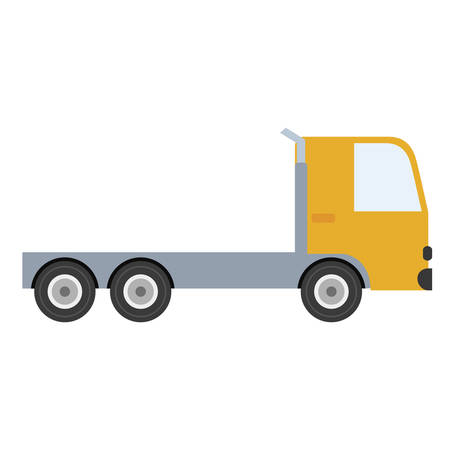 cargo truck icon over white background. colorful design. vector illustration