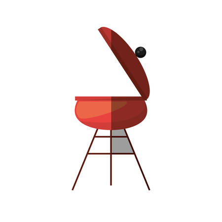 black appliances: grill cooking picnic shadow Illustration