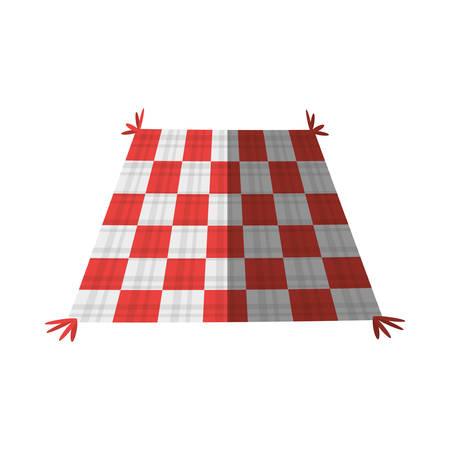 checkered tablecloth picnic shadow Illustration