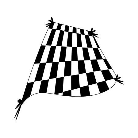 black and white blanket picnic Illustration