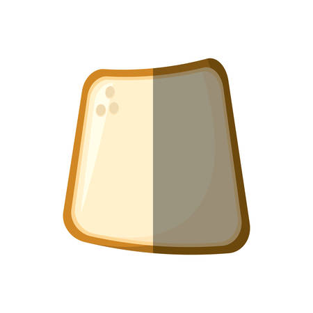 foodstuff: slice bread bakery shadow vector illustration eps 10