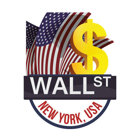 nasdaq: wall street new york exchange money business vector illustration eps 10