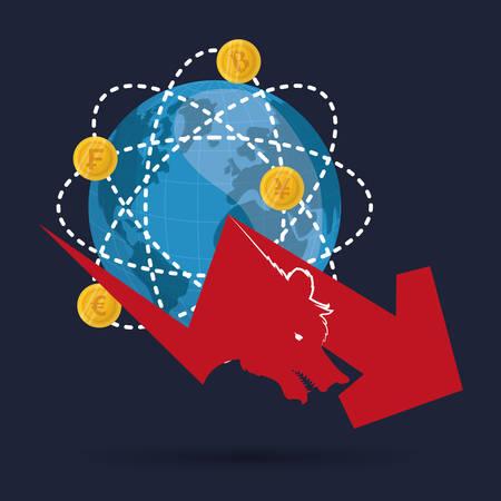 world  market financial vector illustration Illustration