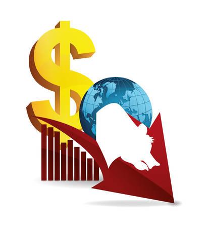 bear   business world finance vector illustration Illustration