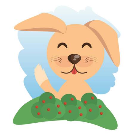 cute dog: cute dog animal winking vector illustration eps 10