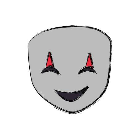 theatre mask smiling i icon vector illustration graphic design