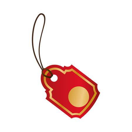 aching: Shopping label tag icon vector illustration graphic design Illustration
