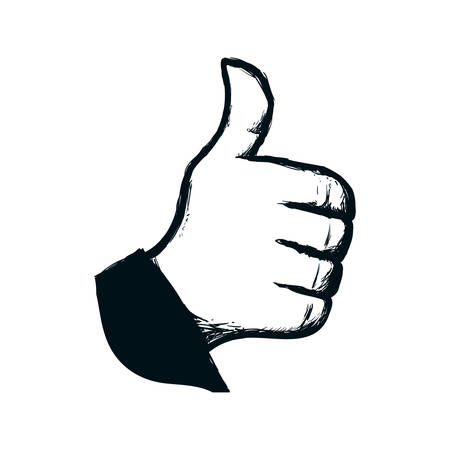 Thumb up like icon vector illustration graphic design