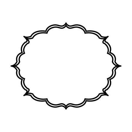 Vintage Frame Template Icon Vector Illustration Graphic Design ...