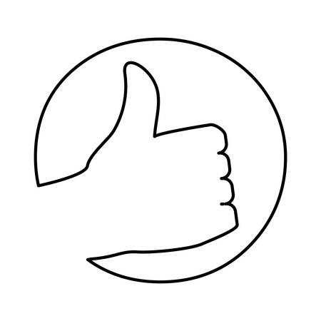 validate: Thumb up like icon vector illustration graphic design
