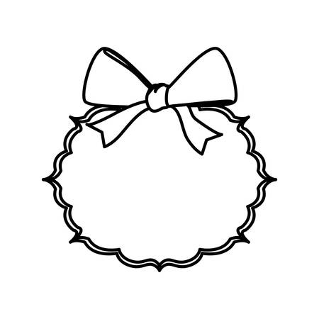 Decorative bow ribbon icon vector illustration graphic design Illustration