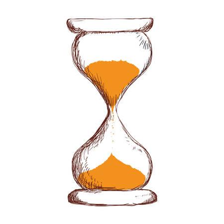 business graphics: Hourglass antique instrument icon vector illustration graphic design