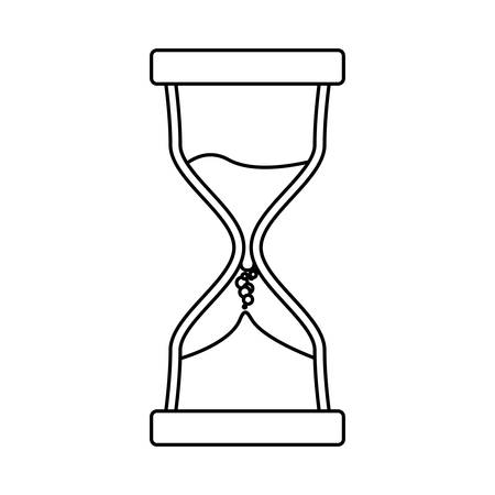 Hourglass antique instrument icon vector illustration graphic design