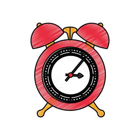 Clock and time concept icon vector illustration graphic design Ilustrace