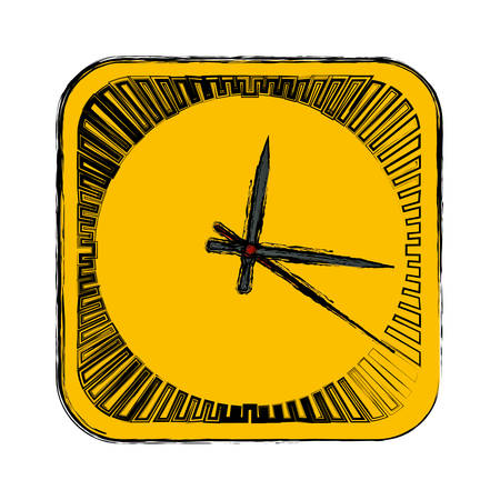 Clock and time concept icon vector illustration graphic design Illustration