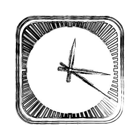 Clock and time concept icon vector illustration. Illustration
