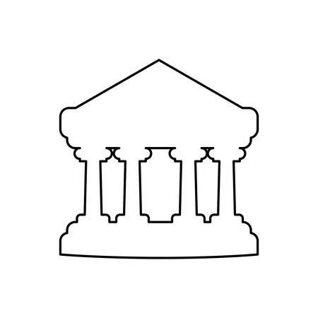 Bank building symbol icon vector illustratrion graphic design
