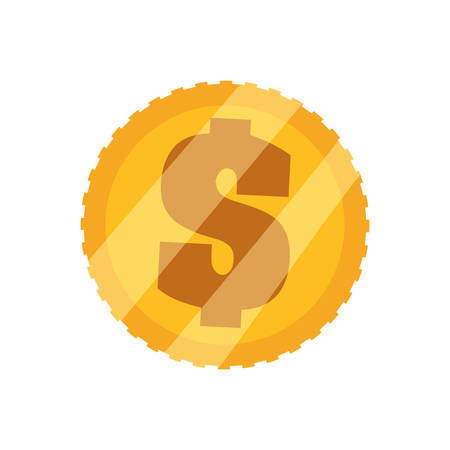 Coin of money icon vector illustration graphic design