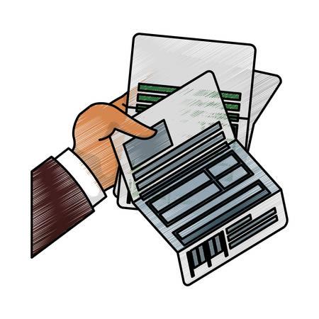 tax accountant: Business finance report icon vector illustration graphic design