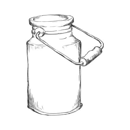Milk can container icon illustration vectorielle design graphique