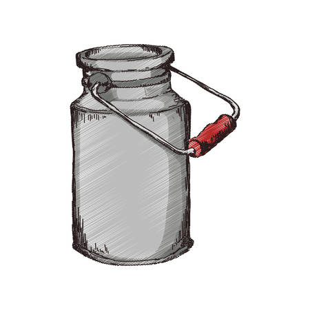 Milk can container icon illustration vectorielle design graphique Banque d'images - 75974539