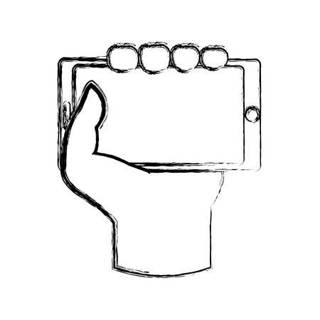 media gadget: Mobile smartphone technology icon vector illustration graphic design Illustration