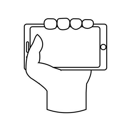 media gadget: Mobile smartphone technology vector illustration graphic design Illustration