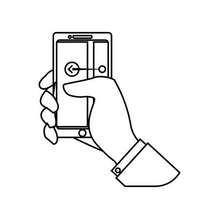 Mobile smartphone technology vector illustration graphic design Illustration