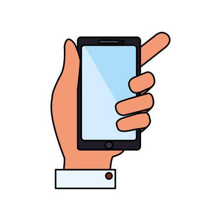 handphone: Mobile smartphone technology vector illustration graphic design Illustration