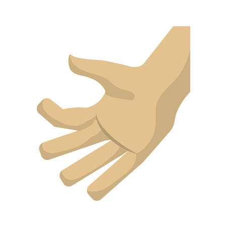 Hand touching something vector illustration graphic design