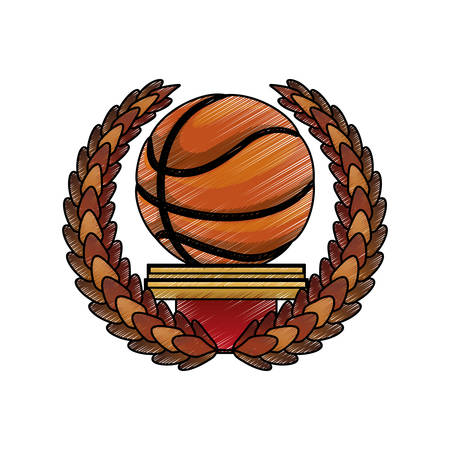 Basketball ball game icon vector illustration graphic design