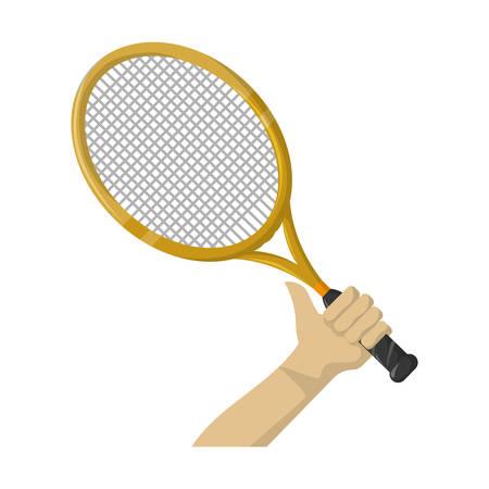 Tennis sport game icon vector illustration graphic design Illustration