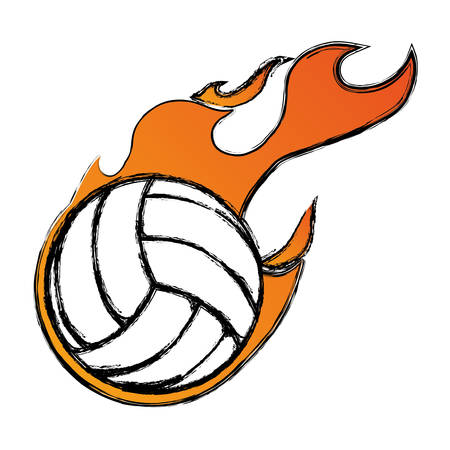 Voleyball sport game icon vector illustration graphic design Illustration