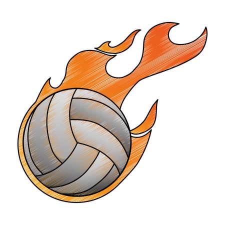 Voleyball sport game icon vector illustration graphic design Stock Photo