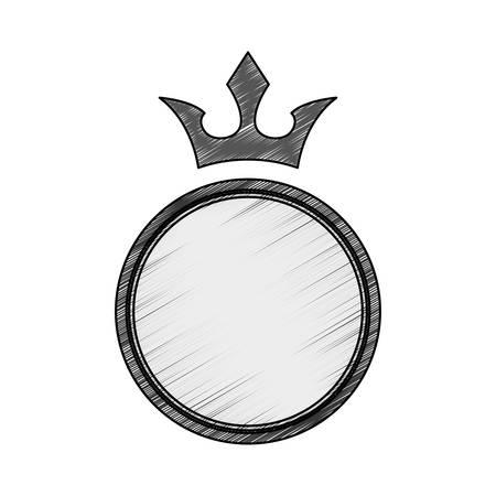the aristocracy: Crown decorative emblem icon vector illustration graphic design