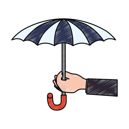 Insurance umbrella symbol icon illustration graphic design Illustration