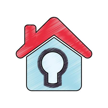 Home real state icon illustration graphic design Illustration
