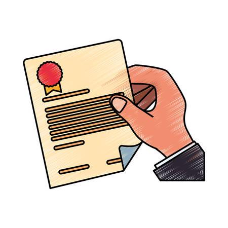 Contract document paper icon vector illustration graphic design