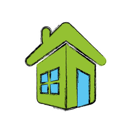 Home real state icon vector illustration graphic design